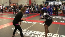 Girls Grappling: SLOW MOTION GUILLOTINE SUBMISSION! • Candice Titus vs Tricia Hypolite • Female No-Gi at NAGA 02.07.15