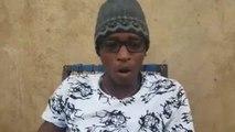 Un jeune malieen - qui passe un message très fort et tres sensible sur ras