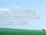 Grammar for Writing Workbook Grade 10 McDougal Littell a3422fff
