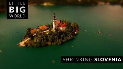 Shrinking Slovenia (4k -Time lapse - Aerial - Tilt shift)