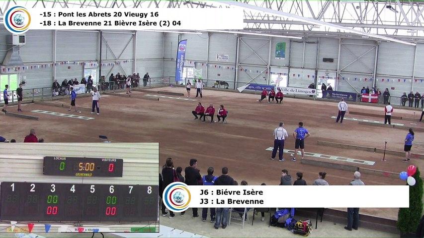Finales,  troisième tour, tirs progressif, rapide en simple et rapide en double -18, France Clubs Jeunes, Limoges 2018