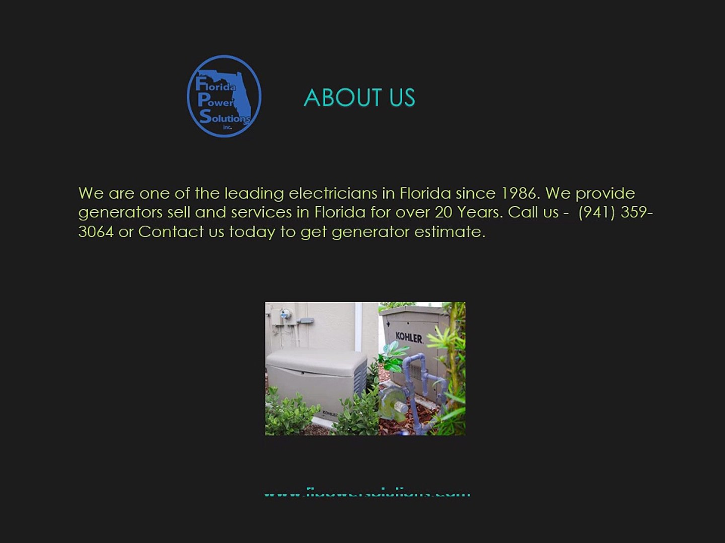 Backup Generator for Residential - Florida Power Solution Inc