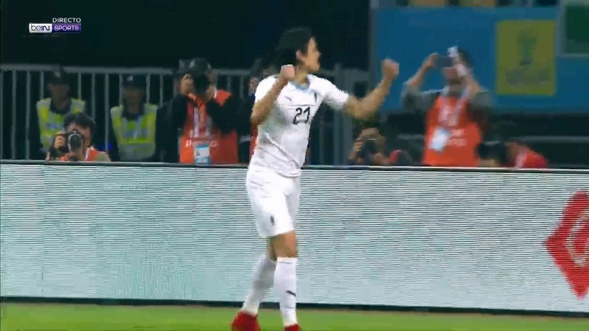 Edinson Cavani Goal Wales 0 - 1 Uruguay 26-03-2018