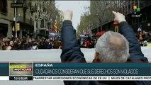 España: deja 93 heridos la represión policial contra soberanistas