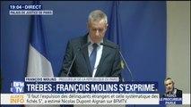 """Le procureur Molins rend hommage à """"l'engagement héroïque"""" du lieutenant-colonel Arnaud Beltrame"""