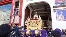 Flamenco ante el calor del Cristo de los gitanos de Málaga