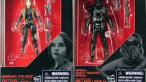 Star Wars Black Series 3.75 Rogue One Jyn Erso & Imperial Death Trooper Figures Review