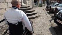 Antoing: En chaise roulante, Gaëtan Hanot a du mal à circuler en ville