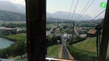 Ce train de haute montagne gravit les sommets et va vous donner le vertige