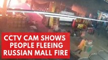 CCTV shows people fleeing deadly Russian mall fire