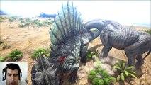 ARK Survival Evolved Spinosaurus Vs Paracer batalla dinosaurios arena gameplay español