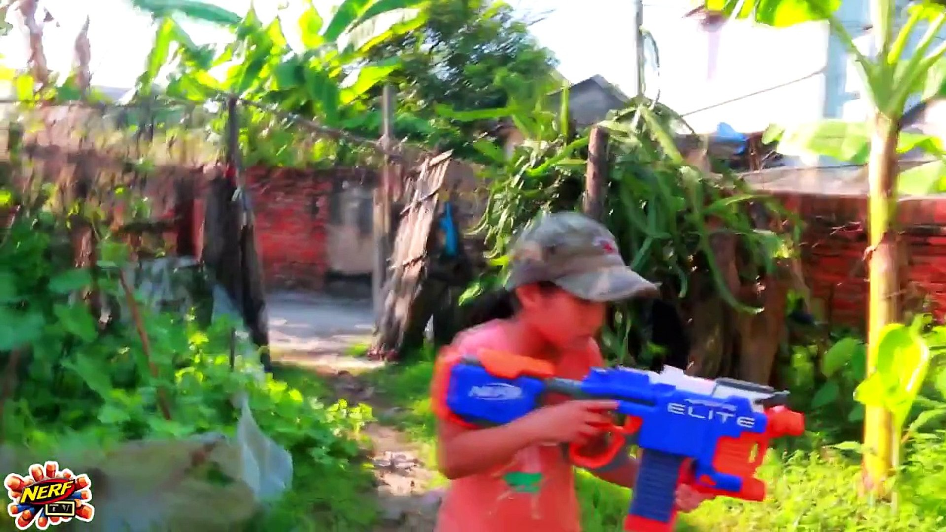 Gun & Gun - Superheroes Action Movie Nerf Guns baby girls vs girls -The Underdog 1 _GUN BABY 11