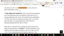 Does 1 John 2:19 Teach Once Saved Always Saved?