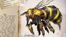ARK - GIANT BEE / APIS DOSSIER + SIZE COMPARISON (Ark Survival Evolved Dino Dossier)
