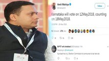 BJP IT cell chief Amit Malviya leaked Karnataka poll dates, EC to probe the matter   Oneindia News