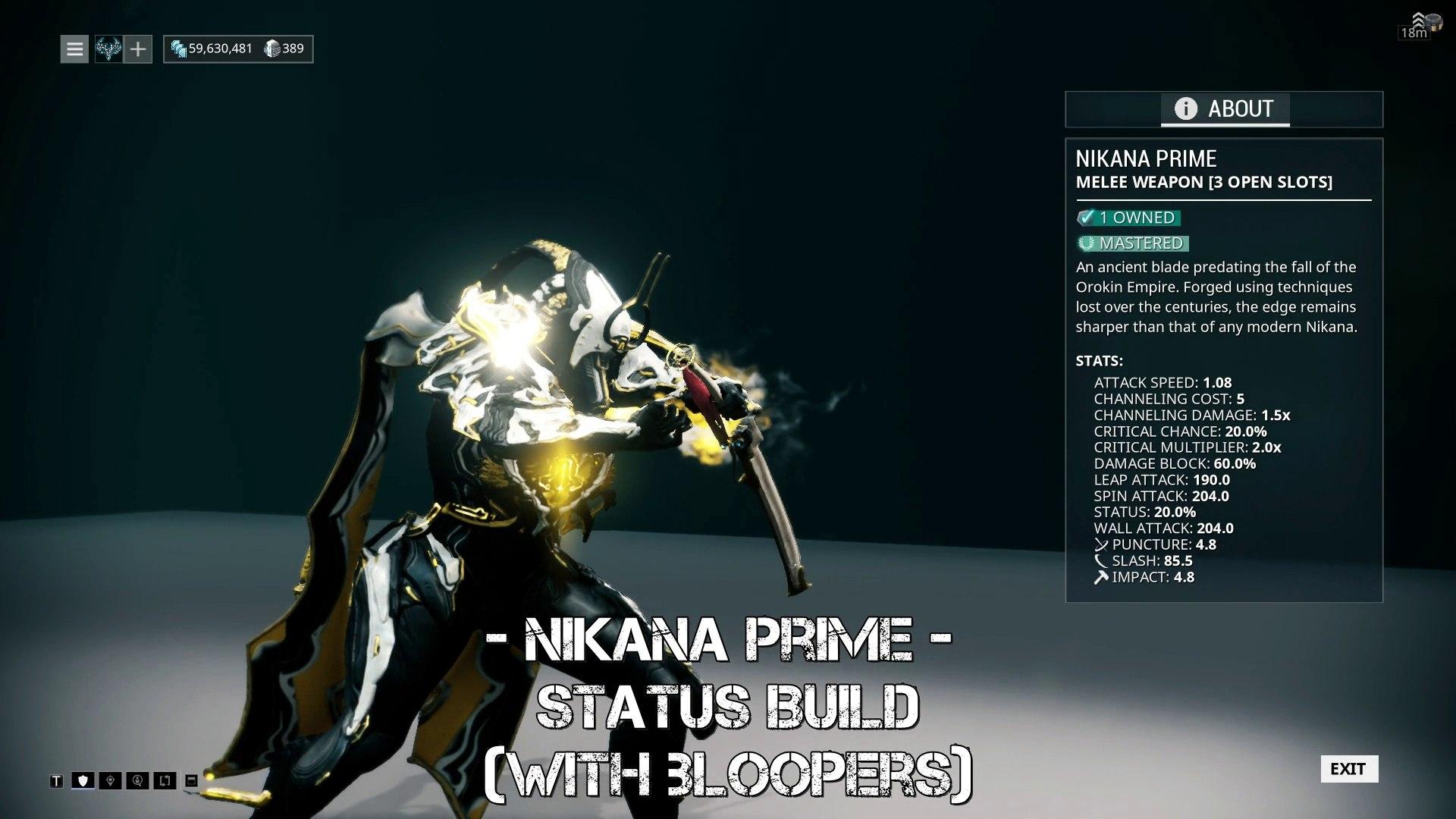 Image result for Nikana Prime Build