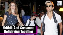 Hrithik Roshan & Sussanne Khan Holidaying Together With Kids