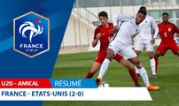 U20, Amical : France - Etats-Unis (2-0), le résumé