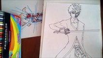 Dibujando a Ichigo de Bleach. Speed drawing Ichigo from Bleach. how to draw Ichigo Kurosaki