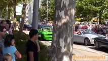 BURNOUTS Accelerations Sounds!! Revs!! Lot of Smoke!! MUSCLE-CAR Party & Crowd goes Crazy!!