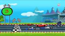 Sports Cars & Bikes Racing | Elearning Vehicles Names & Sounds for Kids - Baby Time
