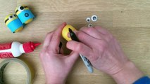 Minion Crafts Make Wobbly Minion Weebles from Plastic Eggs or Kindersurprise Capsules