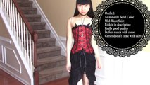 Modelling Dark & Gorgeous Gothic Halloween Inspired Outfits/Costumes + more Fashion Styles   Tidebuy