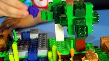 Giant Play Doh Lego Minecraft Creeper Head with Surprise Eggs. Игрушки Майнкрафт