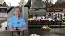 Hommage au lieutenant-colonel Arnaud Beltrame à Avranches