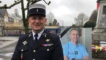 Le colonel Laurent Vandecapelle rend hommage à Arnaud Beltrame