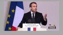 """Hommage à Arnaud Beltrame: Regardez Emmanuel Macron qui s'adresse à la jeunesse: """"L'absolu est là devant nous, mais il n'est pas dans les rangs fanatiques"""""""