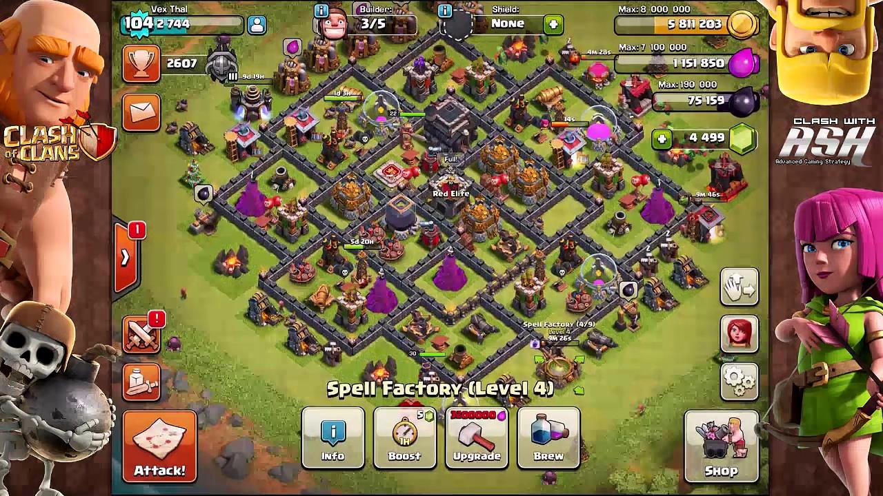 BABY DRAGON FARMING [Th9 Dark Elixir Farming Strategy] Clash Of Clans