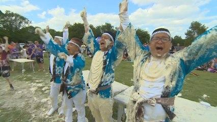 Japanese team takes World Custard Pie Throwing title