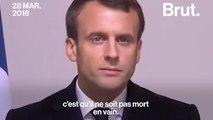 L'hommage d'Emmanuel Macron à Arnaud Beltrame