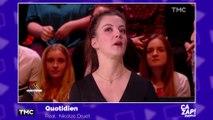 Les larmes de Camille Lellouche dans Quotidien
