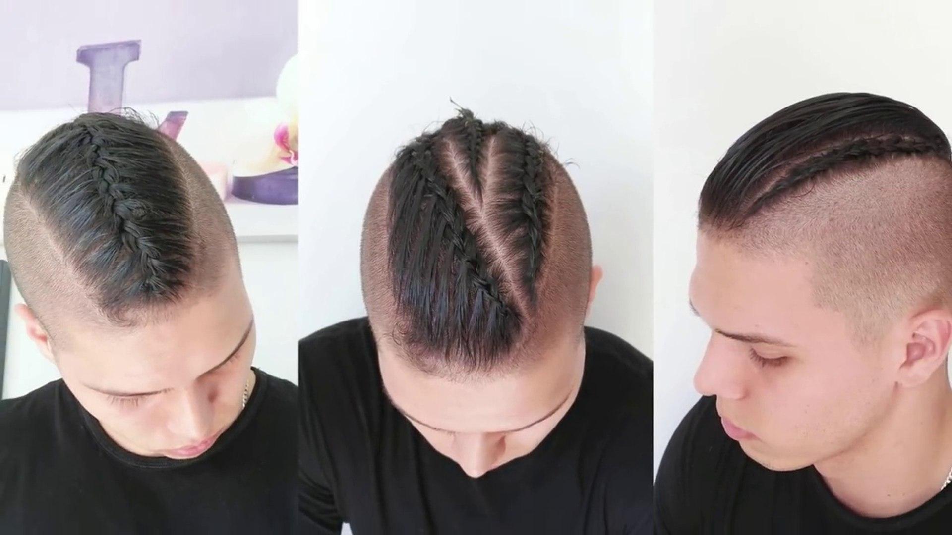 Peinados Con Trenzas Para Hombres Peinados Faciles Para Pelo Corto By Belleza Sin Limites Vídeo Dailymotion