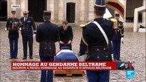 Hommage à Arnaud Beltrame prononcé par le président Emmanuel Macron