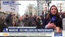 """Des milliers de personnes à Paris pour la """"marche blanche"""" en hommage à Mireille Knoll"""