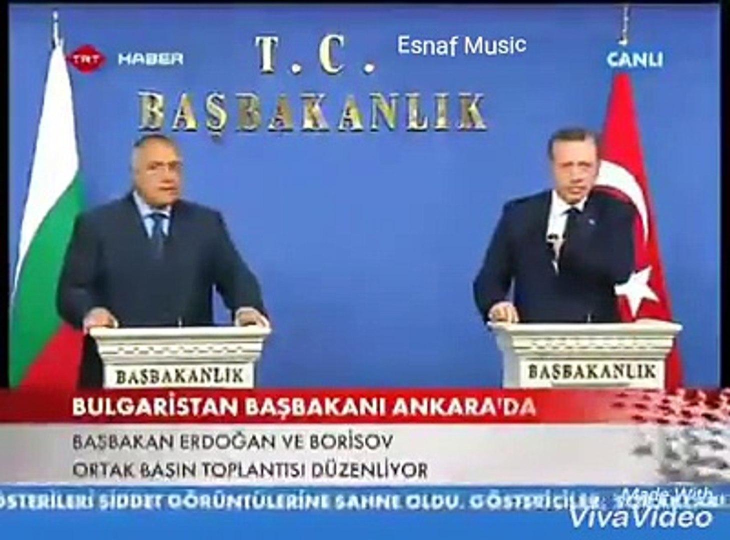Recep taip Erdogan ve Boyko Borisov  -TUTMA