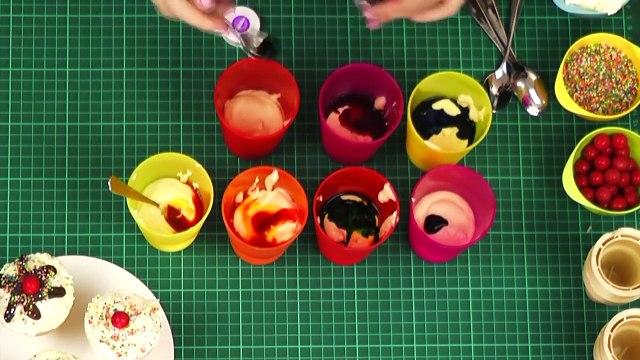 Rainbow Ice Cream Cone Cupcakes! How to Bake a RAINBOW Cupcake IN AN ICE CREAM CONE!