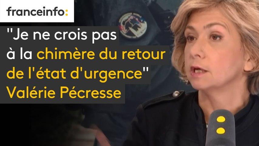 """""""Je ne crois pas à la chimère du retour de l'état d'urgence,"""" affirme Valérie Pécresse - Présidente (LR) de la région Île-de-France, qui ,'est """"pas favorable à ce qu'on mettre en rétention administrative les fichés S radicalisés"""""""
