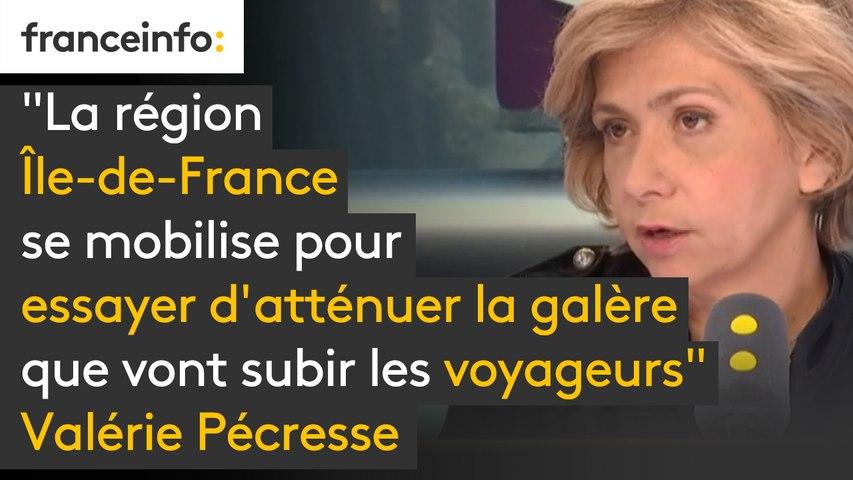 """""""La région Île-de-France se mobilise pour essayer d'atténuer la galère que vont subir les voyageurs""""  Valérie Pécresse annonce que le covoiturage sera """"entièrement gratuit les jours de grève"""" et des noctiliens à partir de 20 heures"""