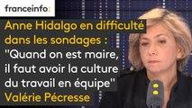 """Anne Hidalgo en difficulté dans les sondages : """"Quand on est maire, il faut avoir la culture du travail en équipe. Il ne faut pas être ni brutale, ni sectaire"""" analyse Valérie Pécresse"""