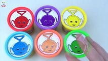 Teletubbies Learning Colours For Children Stacking CUPS PlayDoh Clay Toys Frozen Talking Tom Pony