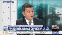 """Fraude fiscale: """"Nous allons créer une police fiscale, à Bercy, sous mon autorité"""", a déclaré Gérald Darmanin"""