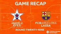 Highlights: Anadolu Efes Istanbul  - FC Barcelona Lassa