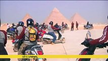 Egypt motorcycle rally ends at pyramids