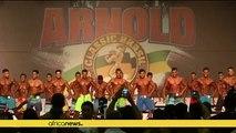 Schwarzenegger opens body building competition in Rio