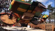 Le Creusot premiers tests pour le woodside 66 la nouvelle attraction du parc des Combes