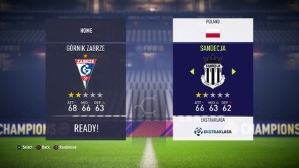Polish Extraklasa - Gornik Sandecja fifa 18 simulation